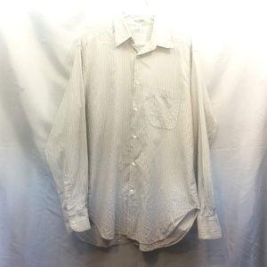 Gorgio Armani Size 15.5 Blue/White Striped Shirt
